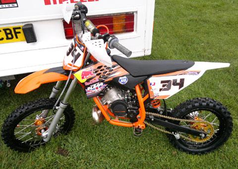 THEFT: One of the orange and black KTM motocross bikes stolen from a garage in Stourport.