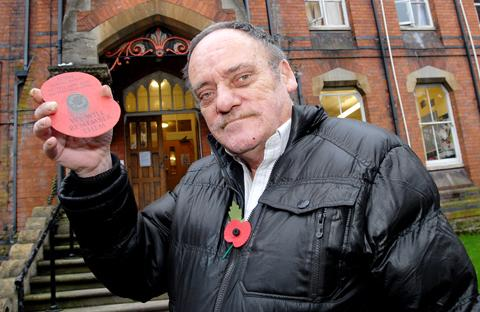 POPPY APPEAL: Bill Hyde has raised almost £1,500 for the Royal British Legion. Picture by Nick Toogood. BUY THIS PHOTO: worcesternews.co.uk/pictures/sales. 0213218502