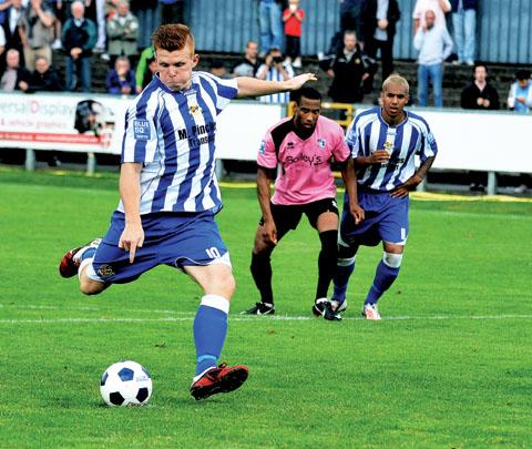 KEEP GOING: Worcester City striker Danny Glover has urged his side to maintain their current run of good form, starting at Bishop's Stortford in the Blue Square Bet North.