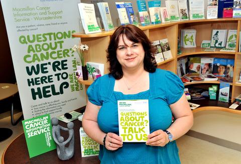 LENDING AN EAR: Macmillan's Nicky Perks is on hand to help people deal with cancer.