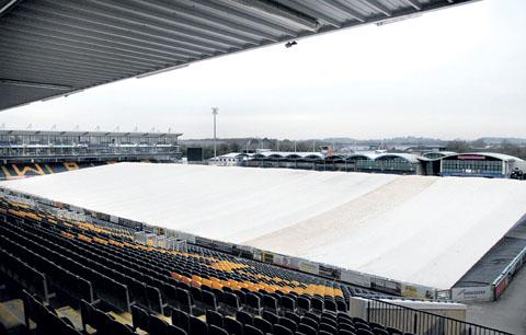 PITCH BATTLE: Worcester Warriors' Sixways ground is covered by a heated dome to try and ensure tomorrow's Amlin Challenge Cup tie with Gernika goes ahead.