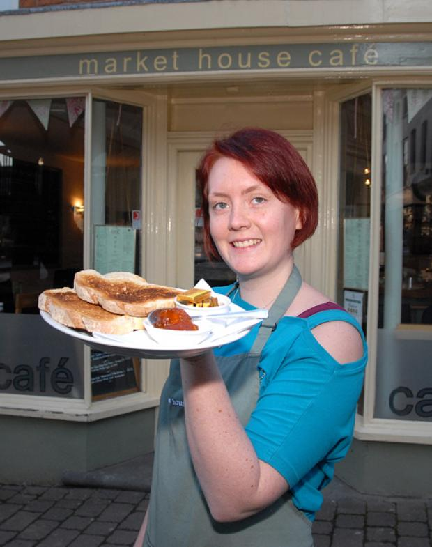Amanda Cruden of the Market House Cafe, which is taking part in the Ledbury Big Breakfast.