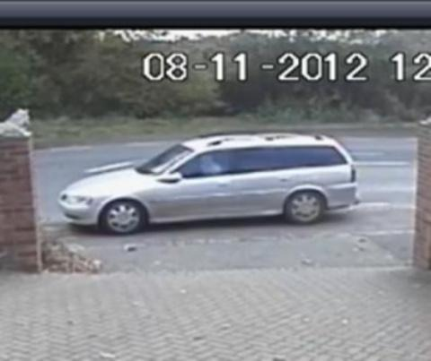 Malvern jewellery raid - car caught on CCTV