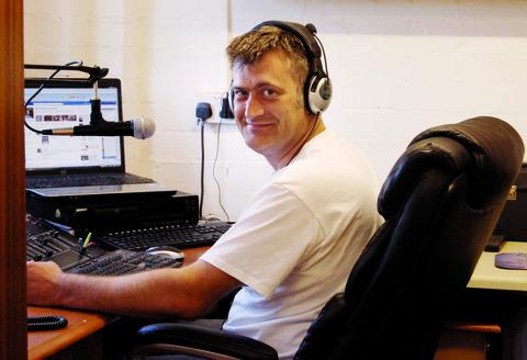 THIS IS MARTLEY CALLING: Mark Tibbutt in the station's studio.