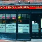 WHATEVER THE WEATHER: Chung Ying Garden was full of diners despite the wintry conditions outside.