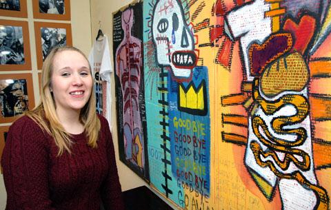 PRIDE: Marketing and programme assistant Jessica Birtwistle is pictured with exhibits.