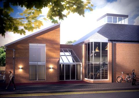 Front: How Pershore Library should look after the refurbishment.