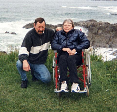 FLASHBACK: Rae Stevens with his late wife Veronica, who died after choking on soup in hospital.