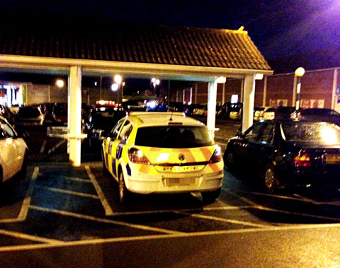 ON BUSINESS: Police have been criticised by a shopper for using a disabled blue badge parking space at a Worcester supermarket. But officers claim it was needed for 'urgent' enquiries in response to a theft which led to an arrest.