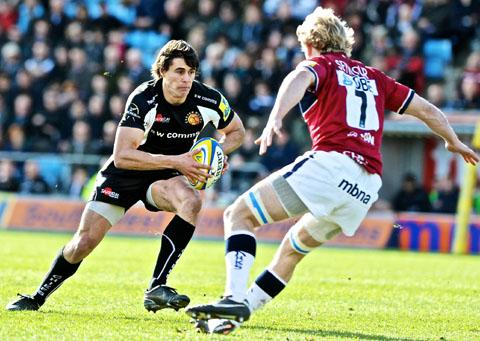 IGNACIO MIERES: The Aregentine fly-half has signed for Worcester Warriors. Picture: EXETER EXPRESS & ECHO.