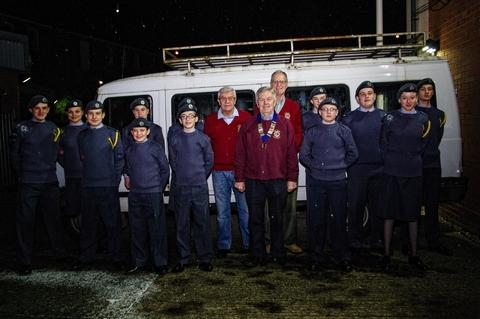 Air cadets from Droitwich have launched a campaign to get a new minibus.