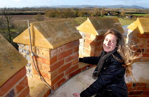 SPECTACULAR: Property co-ordinator Alice Padley takes in the views from the top. Pictures: Paul Jackson. 0413230703