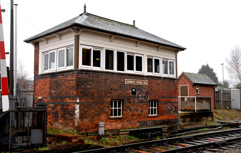 WE APOLOGISE FOR THE INCONVENIENCE: The Henwick signal box and outdoor toilet in St John's, Worcester. Picture: Paul Jackson.	0613241601