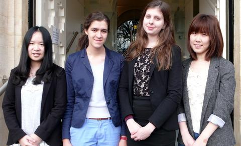 OXBRIDGE BOUND: From left, Malvern St James pupils Jia Ying Yan, Anna Baird, Sara Devereux and Weiyi Zhang