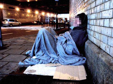 HOMELESS: Worcester has one of the highest number of rough sleepers in the country, outside of London.