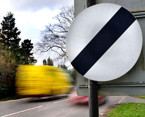 BLUR: Vehicles speeding along a road in Worcester. Picture by John Anyon. 0713247101