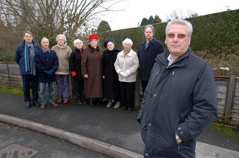 CONCERNS: Richard Bamford, far right, with other Eastward Road residents. Picture by Nick Toogood. 0713244201