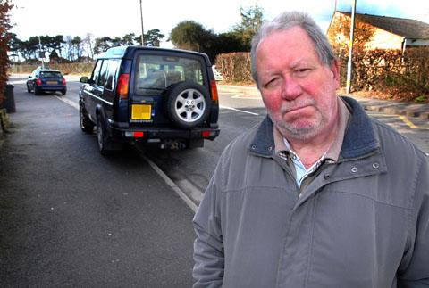 PROBLEMS: Maurice Francis is concerned about the parking on Bilford Road. Picture by Paul Jackson. 0713246701