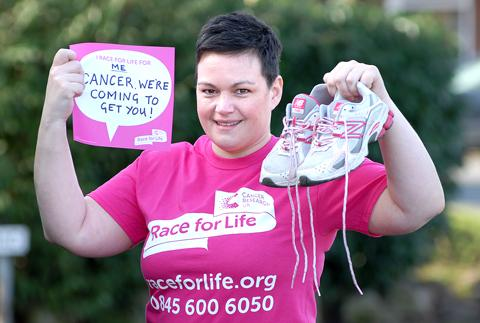 DETERMINED: Hannah Evans is running Cancer Research UK's Race for Life. Picture by Nick Toogood. 0713247701