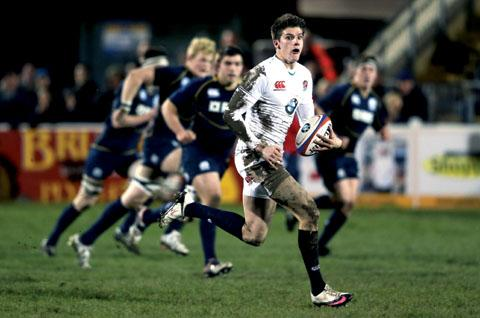 BEN HOWARD: Playing in his favoured full-back position for England's Under 20s today.
