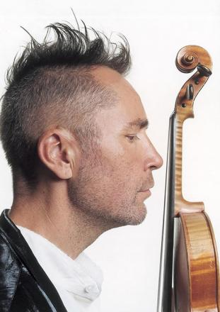 HE'S BACK IN TOWN: Violinist Nigel Kennedy is to perform at Malvern Theatres in May.