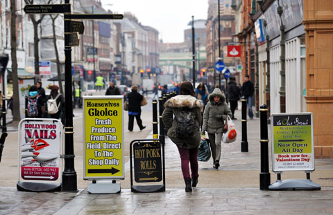 CLUTTERING? Planning boss defends right of businesses to place boards on High Street