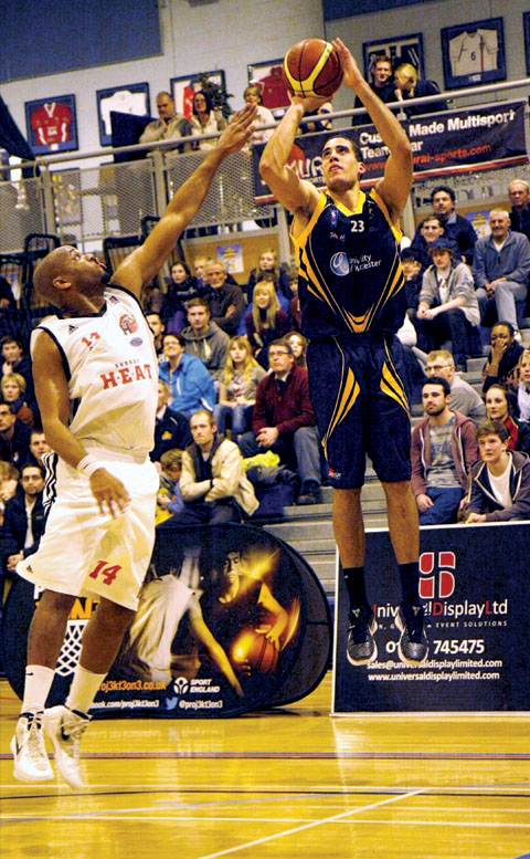 KAI WILLIAMS: Scored 24 points in Worcester Wolves' 99-81 win over Surrey Heat in the British Basketball League.