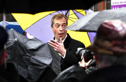 Nigel Farage is in Worcester on Wednesday April 3.