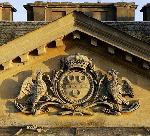 CARVING: The stone coat of arms that sits above historic Croome Court has now been restored to its former glory after a £4,500 donation enabled urgent work to go ahead.