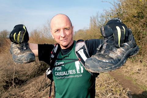 running shoes: Andrew Graham is gearing up to run 2,013 miles in 2013 to raise £2,013 for St Richard's Hospice. Picture by Nick Toogood. 1013260902