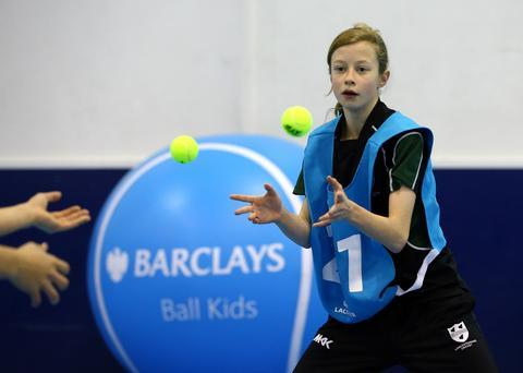 Paige Hunt, from Droitwich, during the regional heat to find a ball girl.