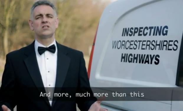 Highways boss Jon Fraser in the video