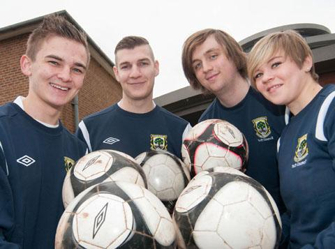 NEXT GENERATION: The Worcestershire FA Youth Council members (from left): Harry Organ, Matt Dandy, Jack Coleman and Jodie Williams. 1013265901