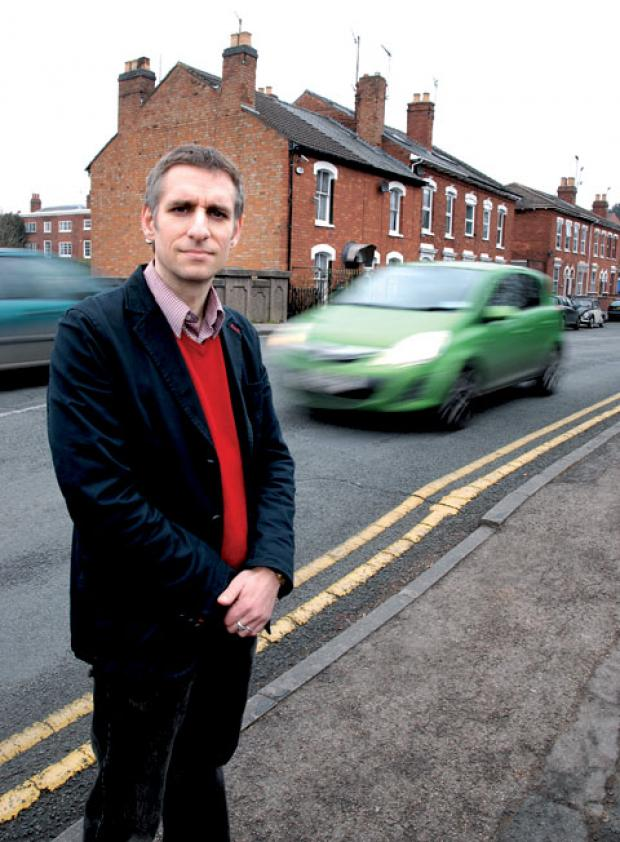 SPEEDERS: Matthew Jenkins from the Green Party is calling for safety improvements on Lansdowne Road. 1013263302