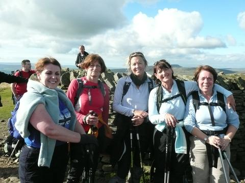 The women during a training weekend in the Yorkshire Dales.