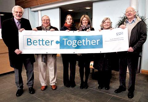 BETTER TOGETHER: Members of the NHS South Worcestershire Clinical Commissioning Group promote the scheme.
