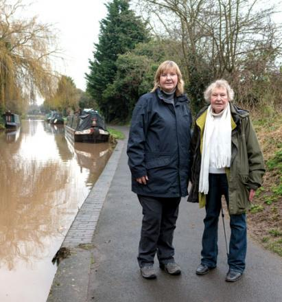 CANALSIDE: Councillor Joy Squires and Arboretum resident Elizabeth Parker are supporting proposals to improve their local canalside as a community amenity.