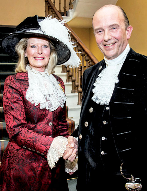 CHANGES: Former High Sheriff Penelope Lewis and new High Sheriff Nicholas Wentworth-Stanley.