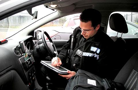 Police in Gorse Hill now have Tetratab devices, like iPads