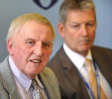 Police and crime commissioner Bill Longmore with Barrie Sheldon