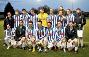 CHAMPIONS: The Oak Apple team that beat Northside 2-0 in the final of the Worcester Sunday Nursing Minor Cup final.