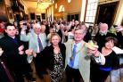 CHEERS: Jill and Roger Berry are wished well as they look back on their year as Worcester's First Citizens.