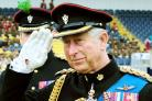 Prince Charles presents Worcestershire's soldiers with their regimental colours