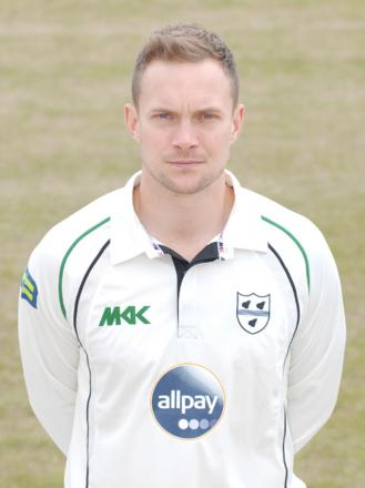 GARETH ANDREW: Among the wickets for Worcestershire.