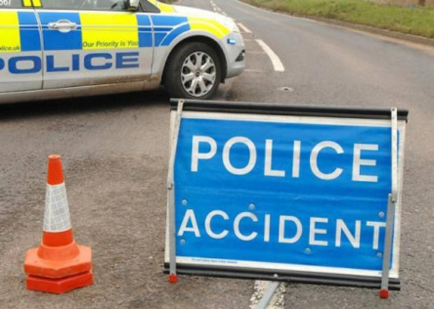 Broomhall Way is closed after lorry crashes
