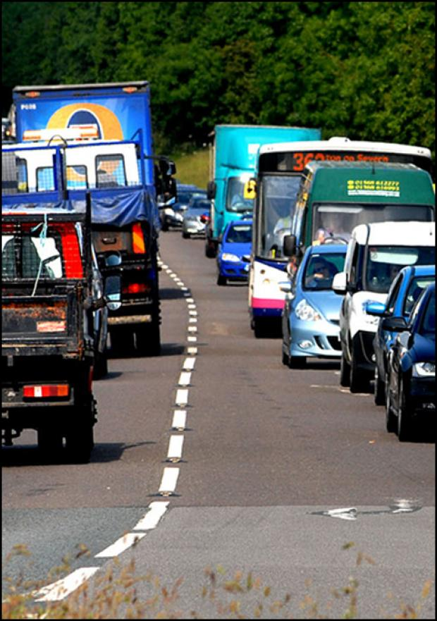 Worcester News: Traffic chaos in Worcester's St Peter's area