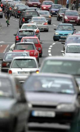 Two lanes shut on M50 after vehicles overturns