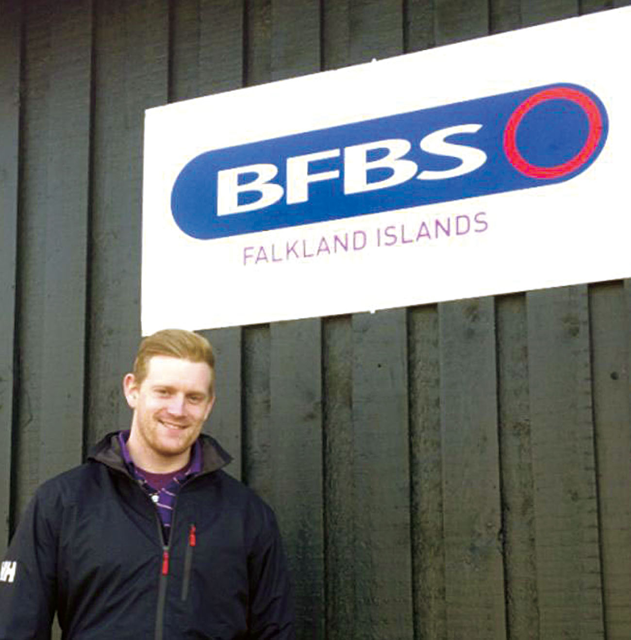 Chris Keen gets to work in his new studio at BFBS Falkland Islands.