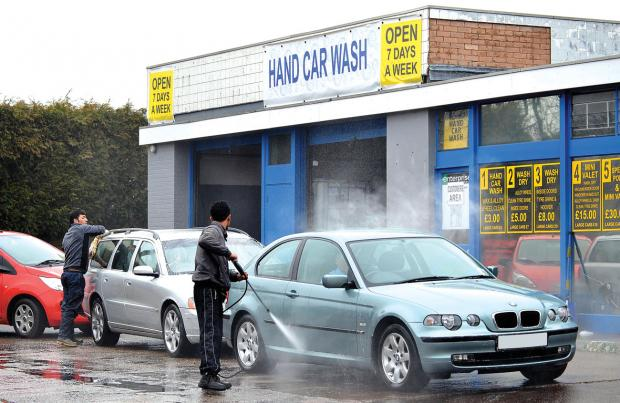 SPLASHDOWN: The screen at Diamond Car Wash must be taken down following complaints from neighbours.