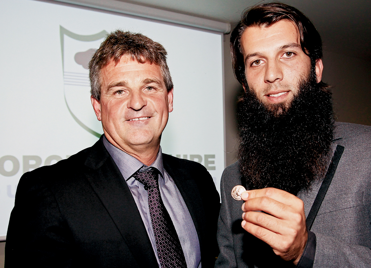 MOEEN Ali was in the winners' circle at Worcestershire's annual player awards night. The player, pictured with the County's director of cricket Steve Rhodes, collected the players' player, the Kenyon Award and the Dick Lygon Award Buttons.